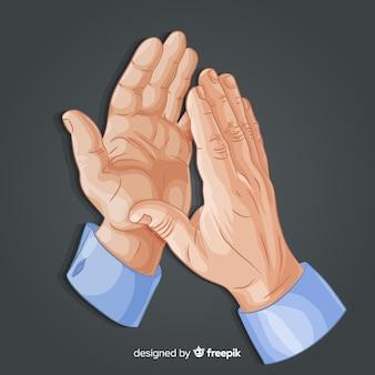 Руки хлопали в ладоши