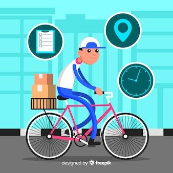 自転車配達