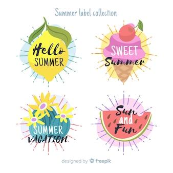 夏のラベルコレクション