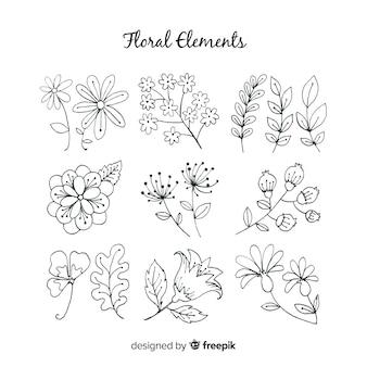Ручной обращается цветочные элементы декора
