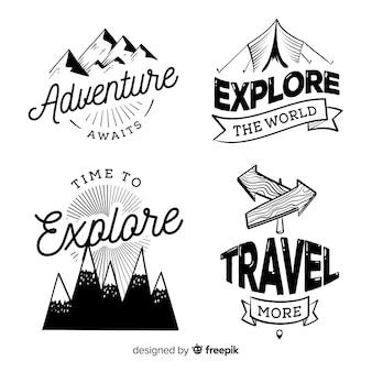 Коллекция логотипов приключений