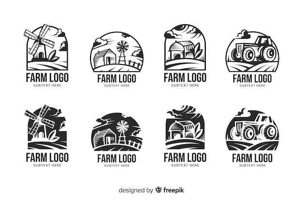 フラットファームロゴコレクション