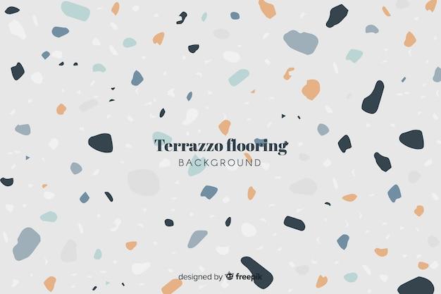 テラゾ床の背景