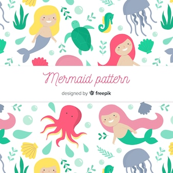 平らな人魚のパターン
