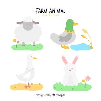 フラット農場の動物コレクション