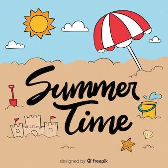 書道の夏の背景