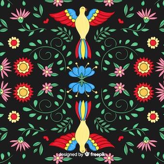 メキシコ刺繍のカラフルな背景