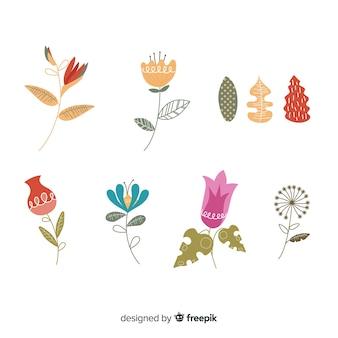 Коллекция цветов и листьев