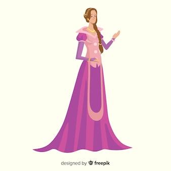 Ручной обращается элегантный портрет принцессы