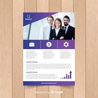 写真付きビジネスパンフレットのテンプレート
