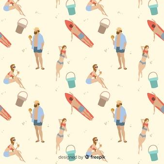 ビーチパターンの人々
