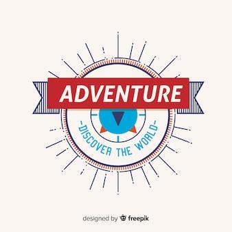 ビンテージの冒険のロゴのテンプレート
