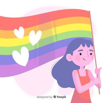 プライドデーの旗の背景