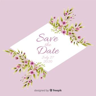 Акварель цветочные сохранить шаблон даты