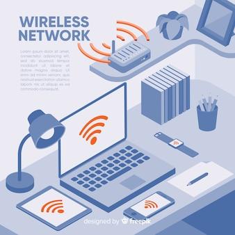 無線ネットワークランディングページのテンプレート