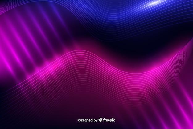 抽象的なネオン線背景
