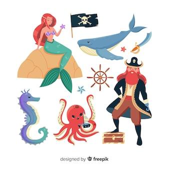 平らな海洋要素のコレクション