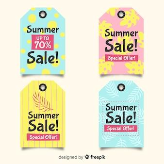 Коллекция красочных летних распродаж
