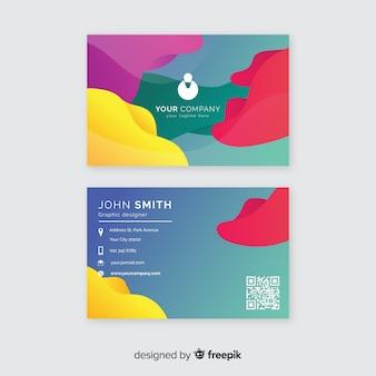 Шаблон визитной карточки абстрактный градиент
