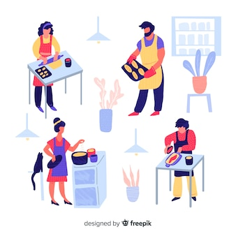 手描きの人料理集