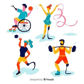 手描き障害者選手コレクション