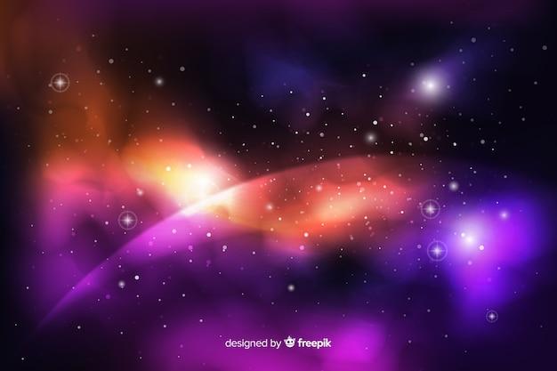 現実的な暗い抽象的な銀河の背景