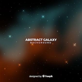 Реалистичный темный абстрактный фон галактики
