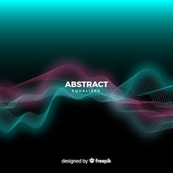 抽象的なイコライザー粒子波背景