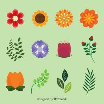 花の要素のコレクション