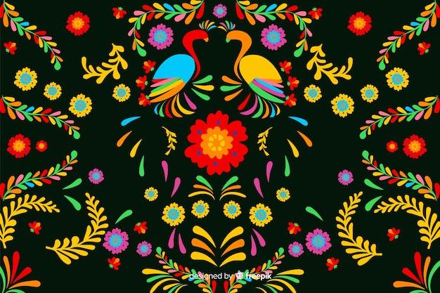 刺繍の花の背景