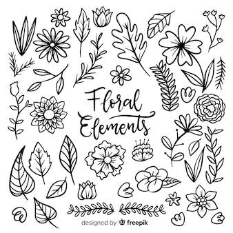 Коллекция цветочных элементов