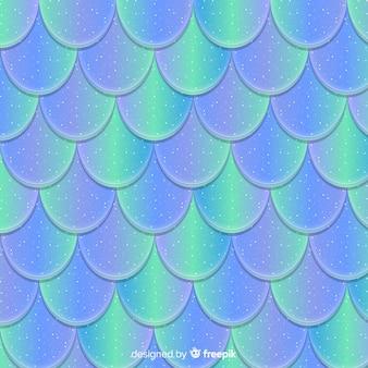 ホログラフィック人魚の尾の背景