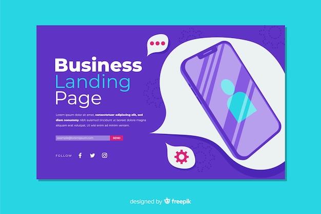 ビジネスコンセプトのランディングページのテンプレート