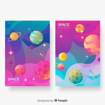 抽象的なカラフルな宇宙空間カバー