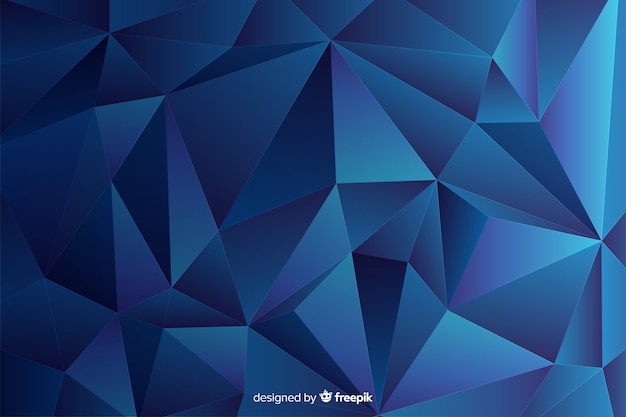 抽象的な三次元幾何学的図形の背景