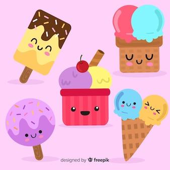 かわいいアイスクリームキャラクターコレクション