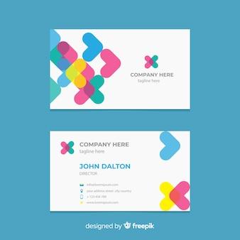 Плоский абстрактный шаблон визитной карточки