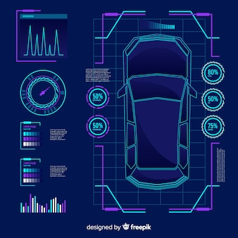 Футуристическая голограмма авто