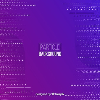 平らな粒子線紫色の背景