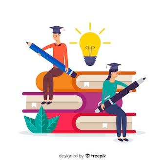 平らな大学の概念の背景