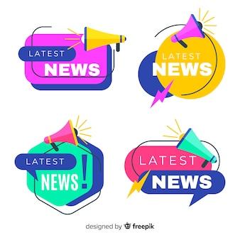 カラフルな折り紙最新ニュースバナーパック