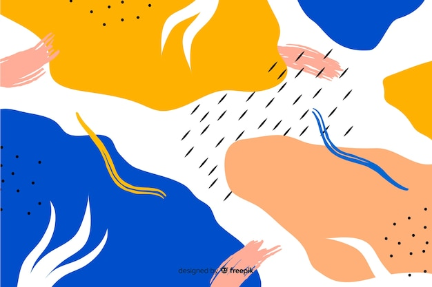 手描きの抽象的な形の背景