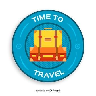 Фон плоский старинные этикетки путешествия