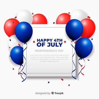 Четвертое июля праздничный фон