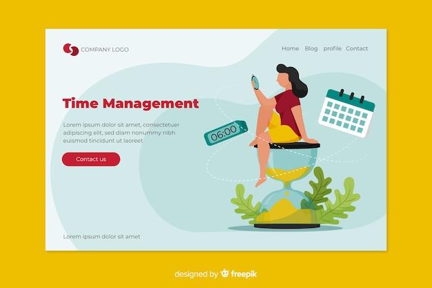 ランディングページの時間管理の概念