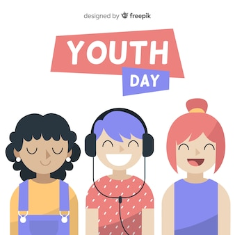 Ручной обращается день молодежи фон