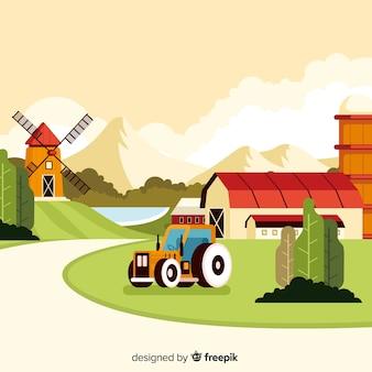 漫画農場風景