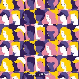 Красочные плоские молодежные люди шаблон