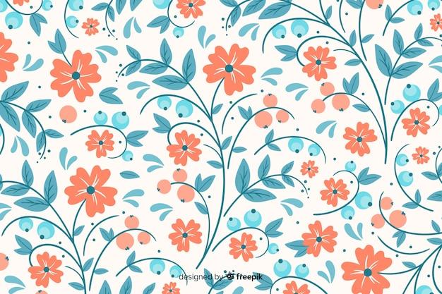 Ручной обращается вышивка цветочный фон