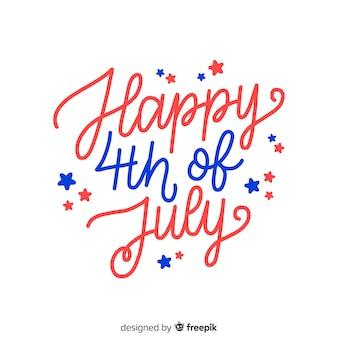 Ручной обращается четвертого июля надписи